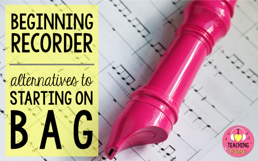 beginning recorder – alternatives to B-A-G