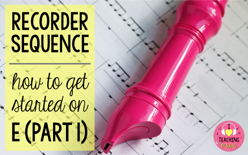 recorder sequence (part 1) – starting on E